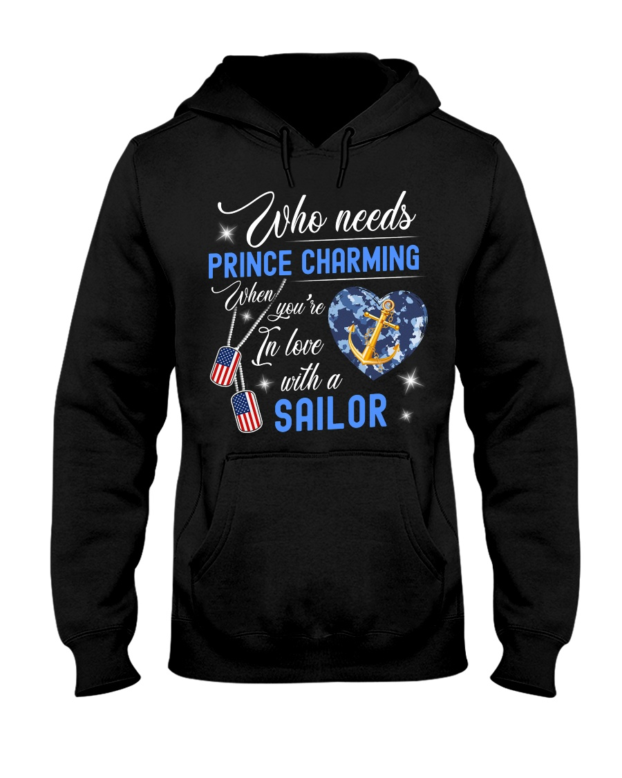 In Love With A Sailor Hooded Sweatshirt