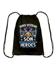 Hero Sailor WWII Veteran's Son Drawstring Bag thumbnail