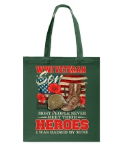 I Was Raised By WWI Veteran Tote Bag thumbnail