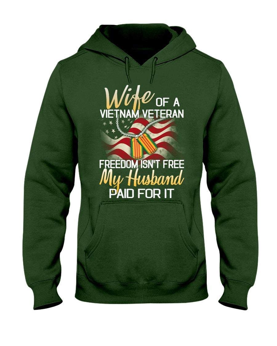 Wife Of A Vietnam Veteran Hooded Sweatshirt