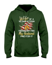 Wife Of A Vietnam Veteran Hooded Sweatshirt front