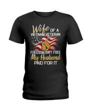 Wife Of A Vietnam Veteran Ladies T-Shirt thumbnail