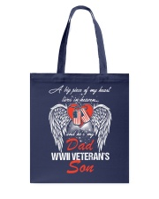 WWII Veteran Son-Piece Of My Heart Tote Bag thumbnail