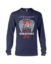 WWII Veteran Son-Piece Of My Heart Long Sleeve Tee thumbnail
