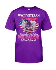WWII VETERAN Daughter-Paid For It Classic T-Shirt front