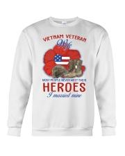 Hero Vietnam Veteran's Wife Crewneck Sweatshirt thumbnail