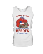Hero Vietnam Veteran's Wife Unisex Tank thumbnail