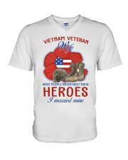Hero Vietnam Veteran's Wife V-Neck T-Shirt thumbnail