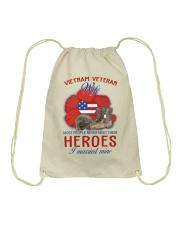 Hero Vietnam Veteran's Wife Drawstring Bag thumbnail