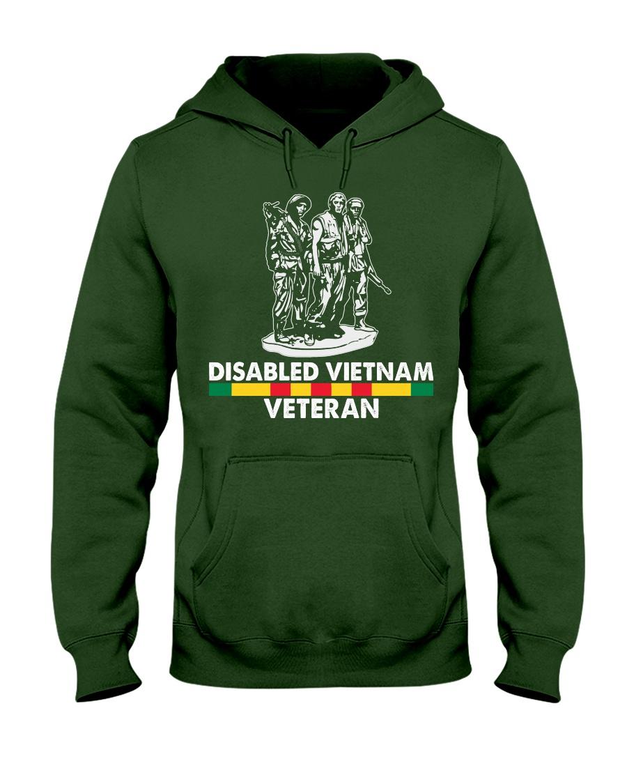 Disabled Vietnam Veteran Hooded Sweatshirt