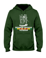 Disabled Vietnam Veteran Hooded Sweatshirt front