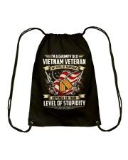 Grumpy Old Vietnam Vet Drawstring Bag thumbnail