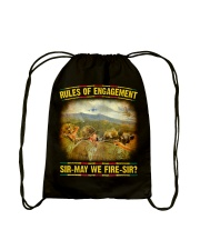 Rules Of Engagement Drawstring Bag thumbnail