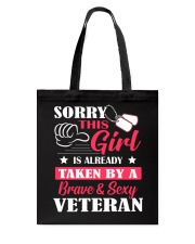 Brave And Sexy Veteran Tote Bag thumbnail