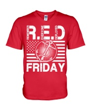 Red Friday V-Neck T-Shirt thumbnail