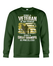 Being A Veteran Great Grandpa Is Priceless Crewneck Sweatshirt thumbnail