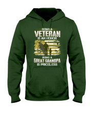 Being A Veteran Great Grandpa Is Priceless Hooded Sweatshirt thumbnail