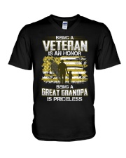 Being A Veteran Great Grandpa Is Priceless V-Neck T-Shirt thumbnail