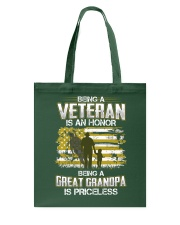 Being A Veteran Great Grandpa Is Priceless Tote Bag thumbnail