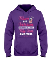 Veteran Mom-Paid For it Hooded Sweatshirt front