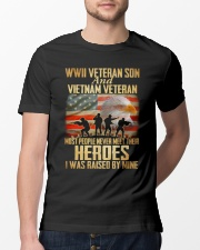 WWII Veteran Son And Vietnam Veteran Classic T-Shirt lifestyle-mens-crewneck-front-13