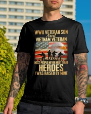 WWII Veteran Son And Vietnam Veteran Classic T-Shirt lifestyle-mens-crewneck-front-8