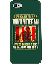 Granddaughter Of A WWII Veteran Phone Case thumbnail