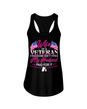 Wife Of A Veteran Ladies Flowy Tank thumbnail