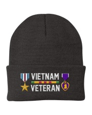 Vietnam Veteran-Sliver Star Medal Purple Heart Knit Beanie thumbnail