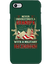 Grandpa With Military Background Phone Case thumbnail