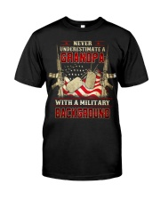 Grandpa With Military Background Classic T-Shirt front