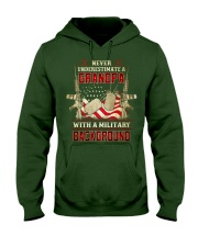 Grandpa With Military Background Hooded Sweatshirt thumbnail