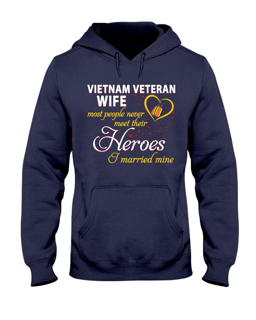 Vietnam Veteran Wife Hooded Sweatshirt