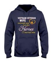 Vietnam Veteran Wife Hooded Sweatshirt front