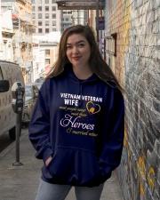 Vietnam Veteran Wife Hooded Sweatshirt lifestyle-unisex-hoodie-front-1