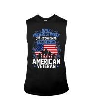 A Woman Raised By An American Veteran Sleeveless Tee thumbnail