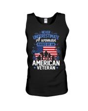 A Woman Raised By An American Veteran Unisex Tank thumbnail