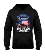 A Woman Raised By An American Veteran Hooded Sweatshirt thumbnail