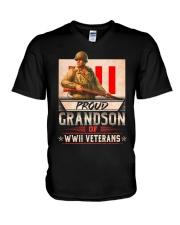 WWII Veterans Grandson V-Neck T-Shirt thumbnail