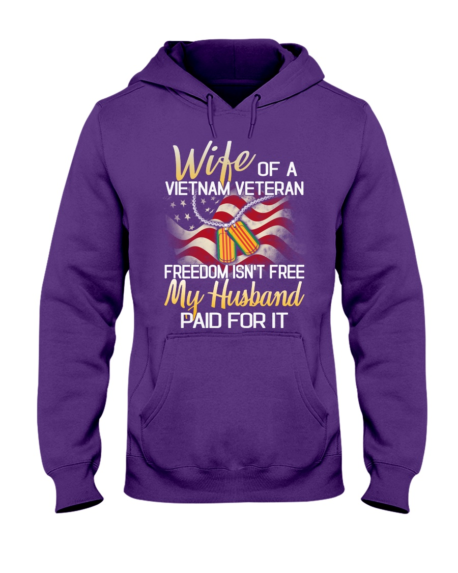 Wife Of A Vietnam Veteran Hooded Sweatshirt