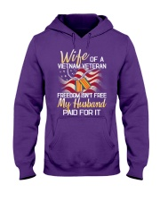 Wife Of A Vietnam Veteran Hooded Sweatshirt front