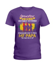 Grandson My Papa Paid For It  Ladies T-Shirt thumbnail
