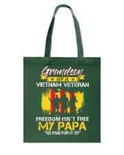 Grandson My Papa Paid For It  Tote Bag thumbnail