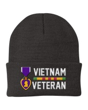 Vietnam Veteran-Purple Heart Knit Beanie tile