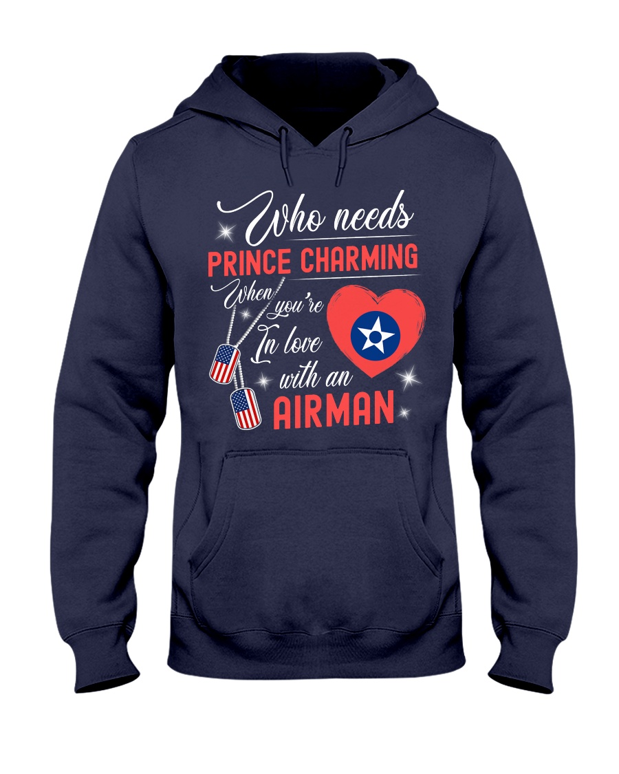 In Love With An Airman Hooded Sweatshirt