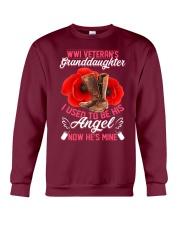 WWI Veteran's Granddaughter Angel Crewneck Sweatshirt thumbnail