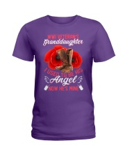 WWI Veteran's Granddaughter Angel Ladies T-Shirt thumbnail