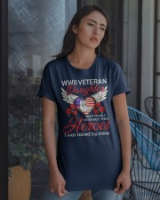 WWII Veteran Daughter-Hero Classic T-Shirt apparel-classic-tshirt-lifestyle-08
