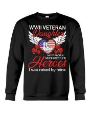 WWII Veteran Daughter-Hero Crewneck Sweatshirt thumbnail