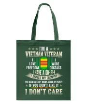 Don't Care Tote Bag thumbnail
